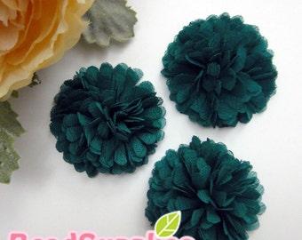 FA-FL-03009 - Fabric Pom Pom (M), teal, 2 pcs