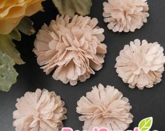 FA-FL-02003s - Fabric Pom Pom (S&M), pink, 4 pcs