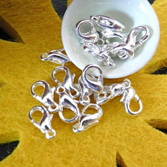 FN-CL-01001 - Silverplated lobster clasp, buy 10 get 2 free