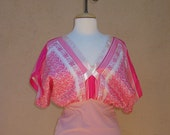 Pink Floral Scarf Top size S - ON SALE