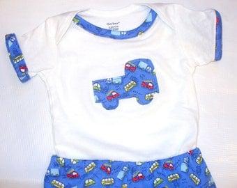 Baby Boy Knit Lounge 2 pc Set .  Shirt and Long Lounge Pants --12 months Ready 2 Ship