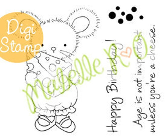 Instant Download Digi Stamp Set: Lucy's Cheese