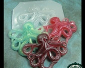resin MOLD Octopus 64x52mm also for polymer clay, pmc, plaster, soaps, and candles