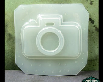 resin MOLD 35mm Camera 1 inch BEZEL 76x53mm also for polymer clay, pmc, plaster, soaps, and candles