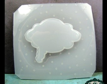 Cloud Thought Bubble Flexible Resin MOLD