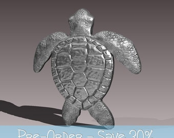 Sterling Silver Turtle Pendant or Brooch - Pre-order and save