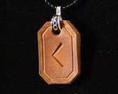 Elder Futhark Leather Rune Pendant - Creativity