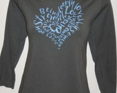 Unique HEART spiral Lao Tzu quote design 3/4 long sleeve shirt top yoga