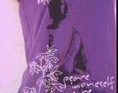Buddha Peace mudra short sleeve shirt yoga top American Apparel