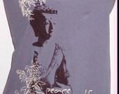 Organic Buddha peace mudra long sleeve scoop neck shirt Alternative Apparel