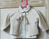 baby cashmere sweater beige color 12m girl