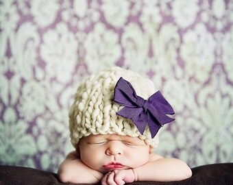 Knitting Pattern Newborn Classic Beanie Baby Hat (PDF) For Bulky to Super Bulky Yarns Great Photography Prop Instant Download