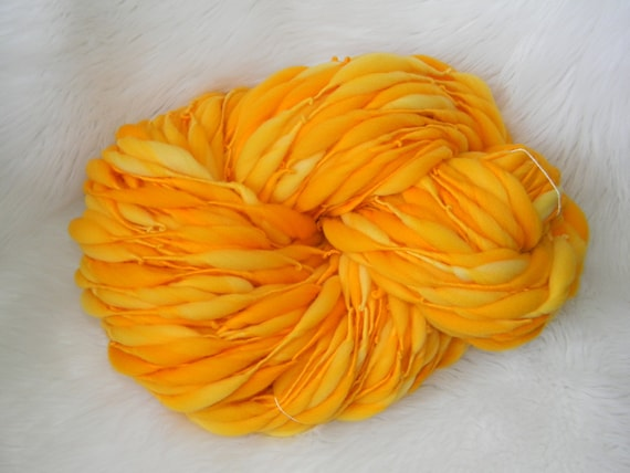 Golden Yellow Kettle Dyed 85 yards Thick n Thin  Merino