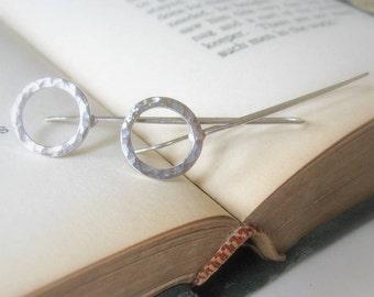 Hammered Cirle Drop Earrings Sterling Silver Dangle Circle Earrings Modern Classic