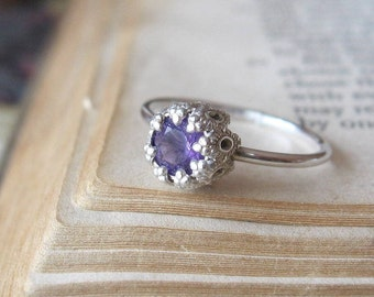 Amethyst Let them Eat Cake Ring Sterling Silver - small