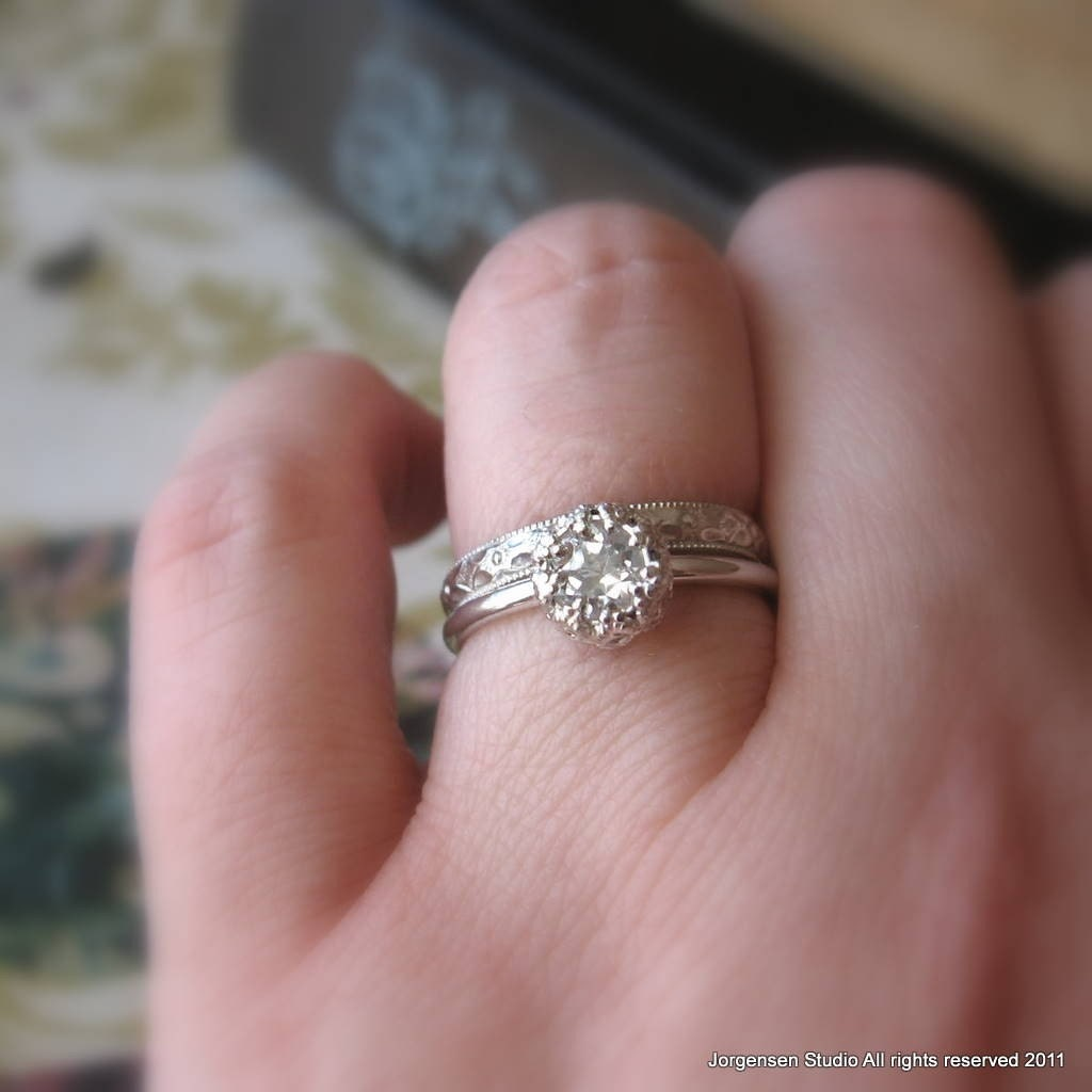 Hand Crafted Wedding Rings: Handmade Engagement Ring Or Promise Ring White Topaz Sterling