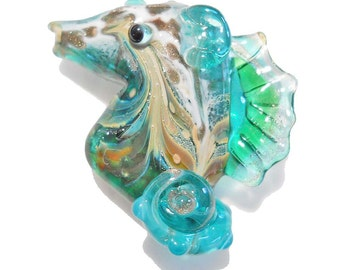 SEAHORSE TUTORIAL Seahorse, Lampwork Glass Bead Instructions with video link, Handmade jewelry supplies instructions, lampwork tutorial