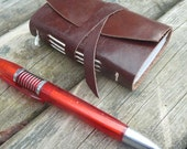 Half Price SALE - Little Leather Journal - Brown