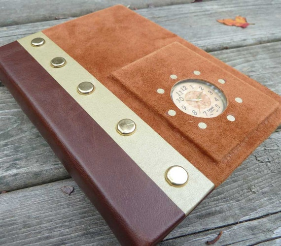 Keeping Time - Hardcover Leather Journal