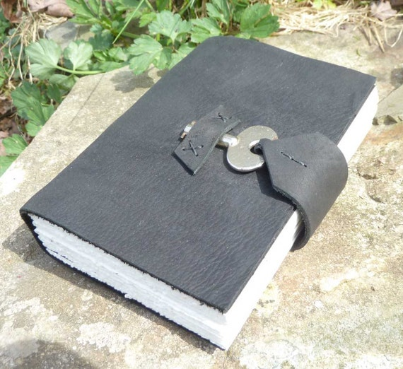 Leather Journal with antique key closure
