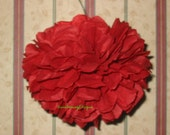 """12 unfurled small 4""""-5"""" tissue paper poms, paper balls, flowers On Stems or Hanging"""