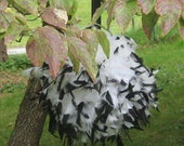 """6"""" to 14"""" Feather Kissing Ball, Dyed tip feathers, Feather Ball, centerpiece, crystals, pearls,pomander, bouquet, Gatsby"""