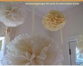 Extra Large, 6 DIY Huge 30 inch Tissue Paper Poms, banquet halls, tents, parties, showers, bat mitzvah