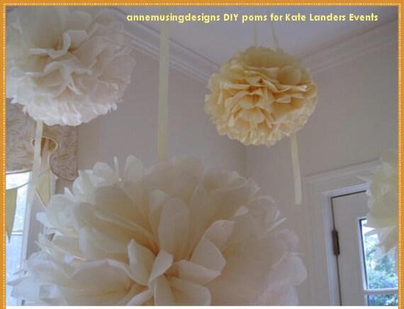 Extra Large, Huge 30 inch Tissue Paper Pom, DIY, banquet halls, tents, parties, showers, bat mitzvah