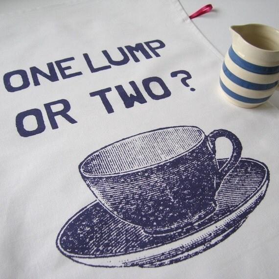 One Lump or Two Tea towel - plum