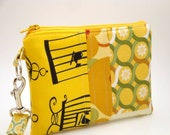 Zippered Wristlet with Detachable Wrist Strap-Amy Butler Fabrics