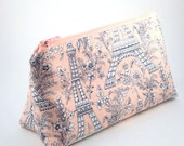 Flat Bottomed Zippered Pouch-Michael Miller Fabric