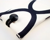 Padded Gadget Case for iPod Touch, iPhone4 or Camera-Black and White GeometricFabric