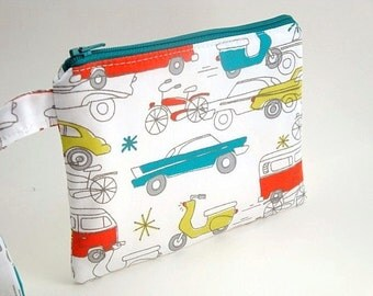 Zippered Wristlet- Circa 50 Organic Fabric