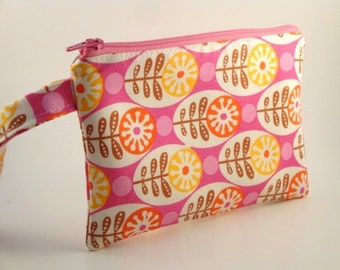 Zippered Wristlet-Park Slope Fabric