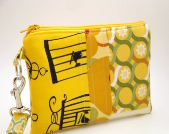 Zippered Wristlet with Detachable Wrist Strap-Amy Butler Fabrics