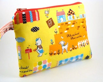 Zippered Wristlet-Imported Japanese Fabric