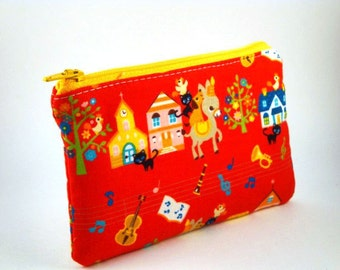 Zippered Pouch-Imported Japanese Fabric
