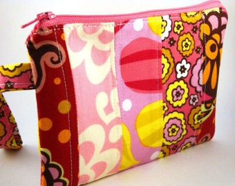 Zippered Wristlet-Anna Maria Horner and Amy Butler Fabrics-Patchwork