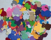 Scrap booking embellishments hand punched 50 bright Teddy Bears