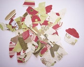 Embellishments hand punched 20 Christmas Cupcakes