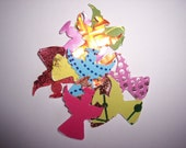 Embellishments hand punched 12 gold foil paper Angels