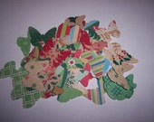 Embellishments hand punched 60 Christmas butterflies