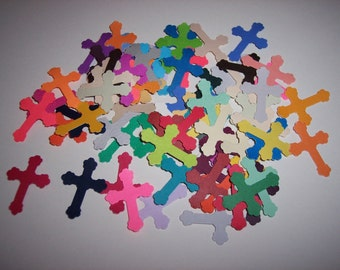 Card making/scrap booking embellishments hand punched 50 Crosses