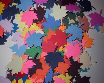 Scrap booking embellishments hand punched 50 bright Maple Leaves