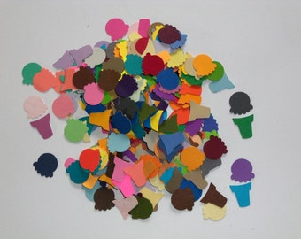 Card making/scrap booking embellishments hand punched 50 bright Ice Cream Cones