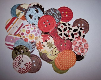 Embellishments hand punched 48 Sparkle Buttons