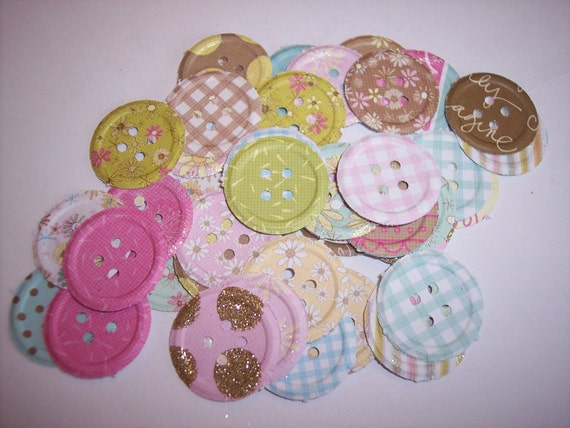 Embellishments hand punched 46 Sparkle Buttons
