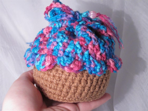 Mini Cupcake Bag - Bright Pinks, Blues, and Purples