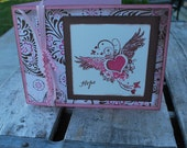 Hope Card and Envelope in pink and brown