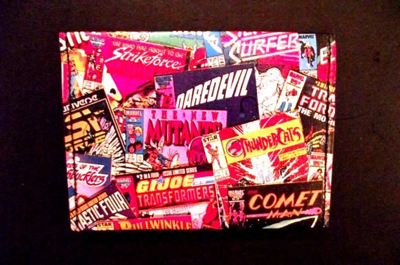 Recycled Comic Book Wallet / Cardholder
